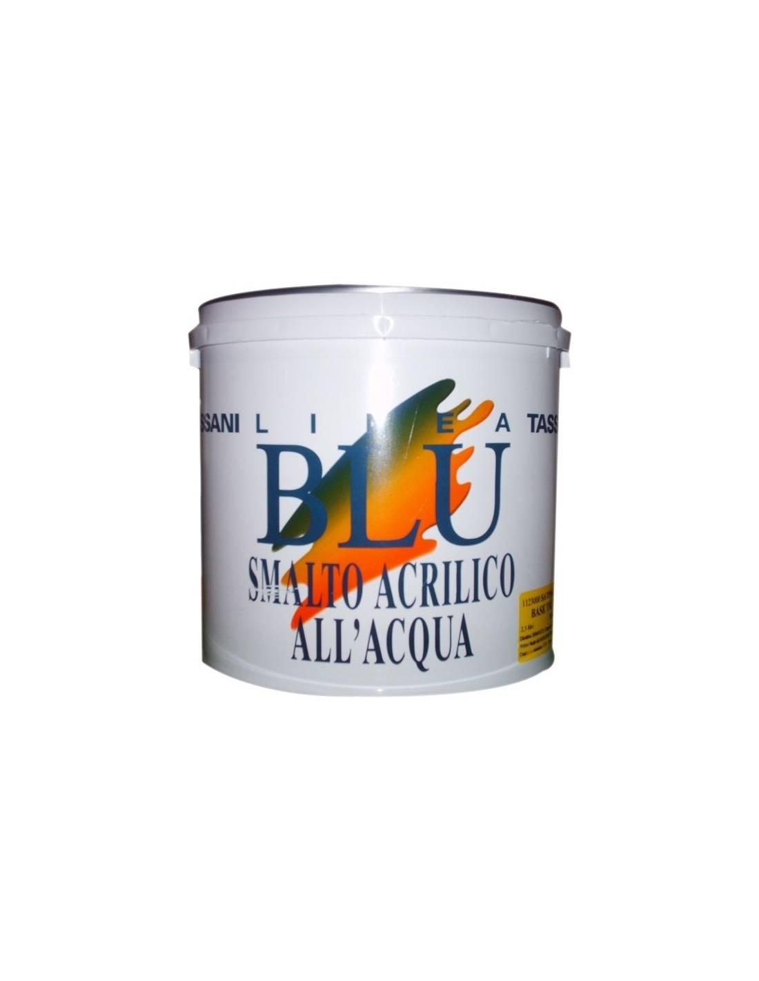 Tassani linea blu smalto acrilico all acqua satinato for Smalto all acqua