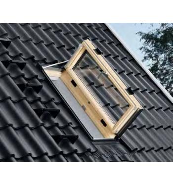 Velux gxl fk06 terminali antivento per stufe a pellet for Velux tetto in legno