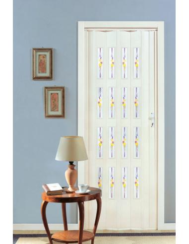 Porta a soffietto in PVC - PASTELLO e vetri MOLATI - eSAEM.it