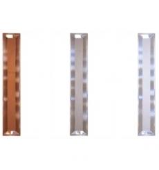 Porta a soffietto in PVC - PASTELLO e vetri MOLATI