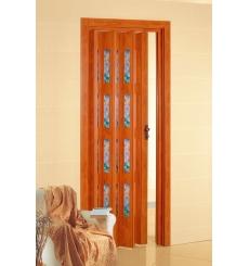 Porta a soffietto in PVC - PASTELLO e vetri COLORATI
