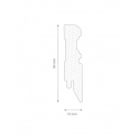 Vendita online battiscopa MDF bianco 80x19 mm da 2,60 mt - ai prezzi più bassi d'Italia! - eSAEM.it