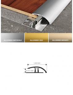 Vendita online profilo terminale Zero Curve 9 in alluminio anodizzato per pavimenti laminati - eSAEM.it
