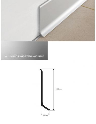 Vendita online paraspigolo in alluminio anodizzato naturale per tutti i pavimenti - eSAEM.it