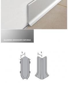 Vendita online angoli per battiscopa in alluminio anodizzato naturale per tutti i pavimenti - eSAEM.it