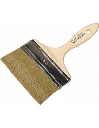 Pennello doppio spessore per velature, manico legno lungo