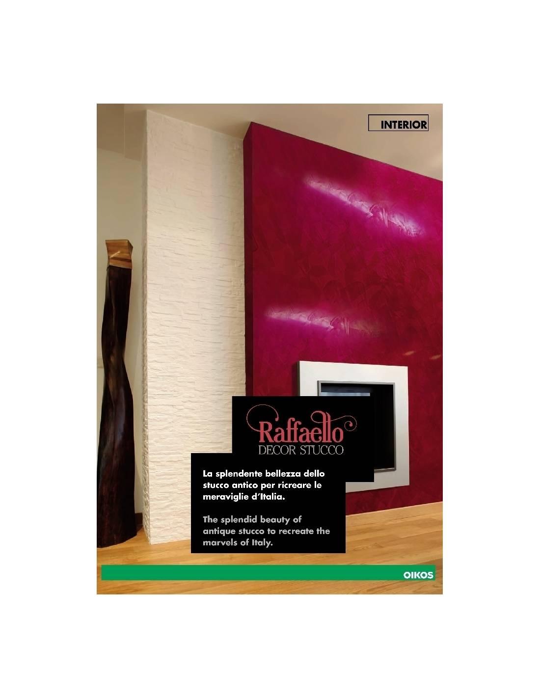 Cartella colori oikos raffaello decor stucco for Oikos pitture cartella colori