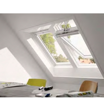Finestra velux a bilico ggu integra solare finitura for Finestre velux integra