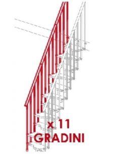 Kit ringhiera esterna per 11 gradini (MINI)