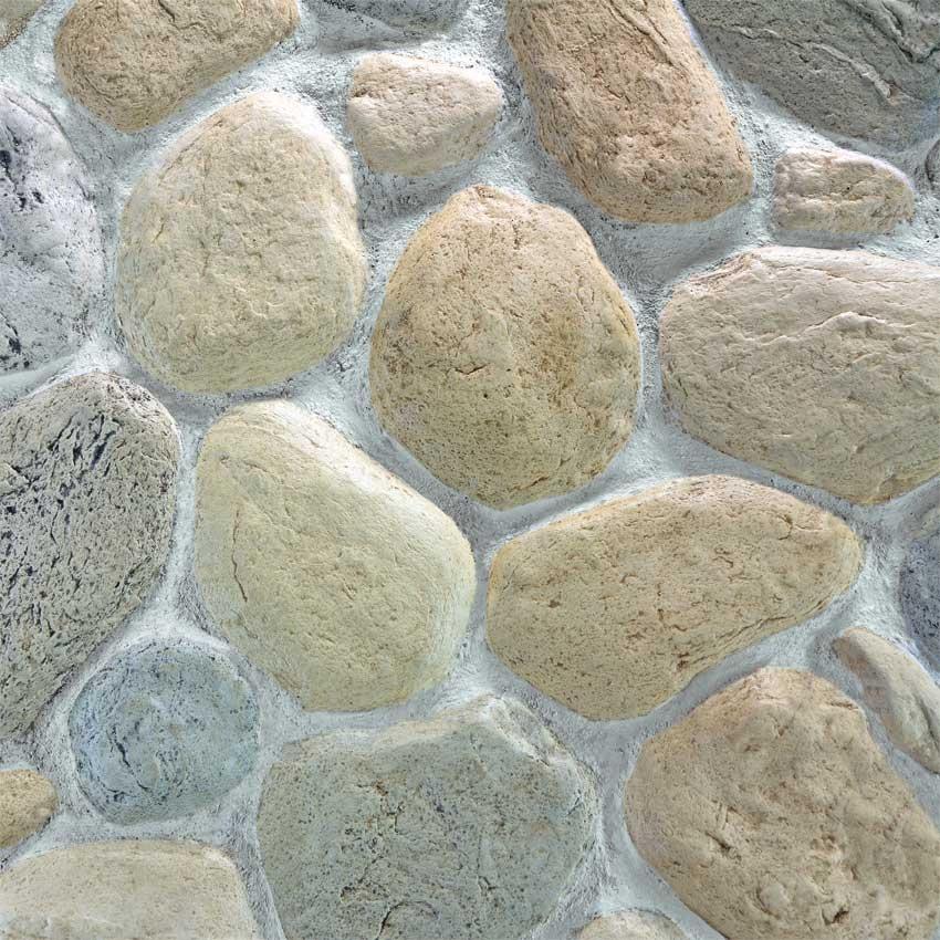 Pannello in pietra ricostruita art pietra di fiume for Sassi decorativi per interni