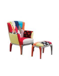 Set Mondrian ( Poltrona+Pouff )