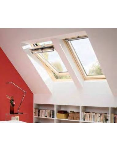 Finestra a bilico manuale velux ggl in legno naturale per for Finestra velux ggl