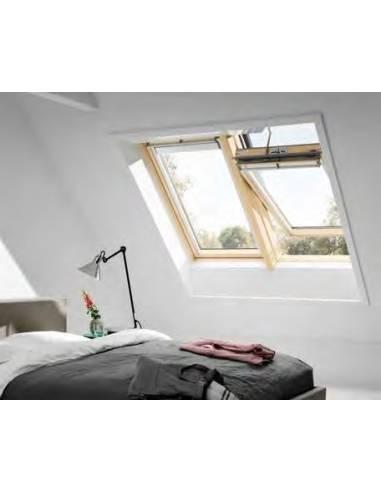 Velux ggl integra elettrica finestra in legno naturale for Prezzo velux integra