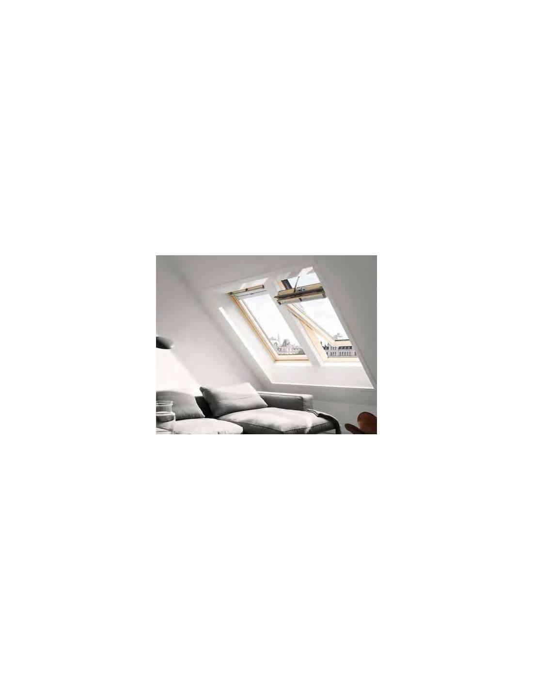 Finestra a bilico velux ggl integra solare in legno for Finestra velux ggl