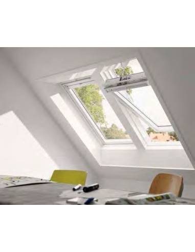 VELUX GGU INTEGRA SOLARE - Finestra a bilico solare in legno e poliuretano bianca - eSAEM.it