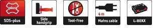 Vendita online martello tassellatore Flex FHE2-22 SDS Plus