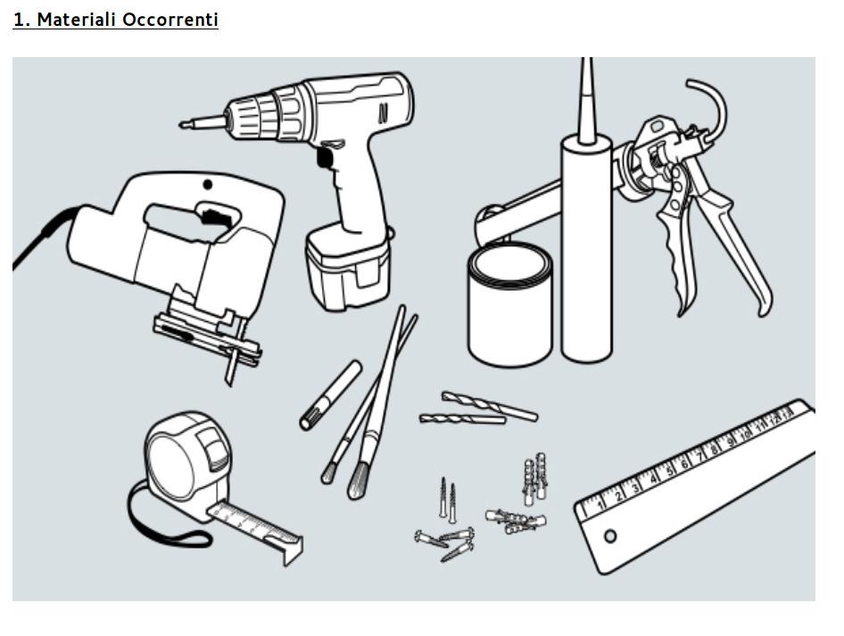 Istruzioni di montaggio - Passo 1