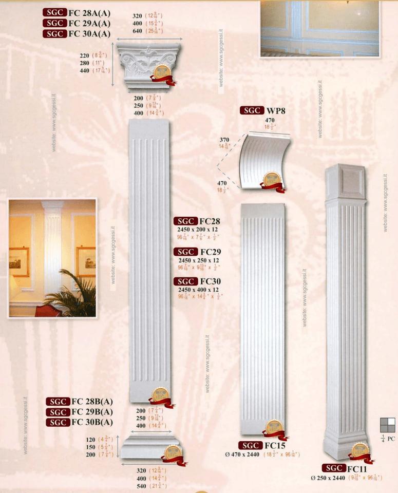 Colonne in gesso per interni 28 images personalizza il for Colonne in polistirolo prezzi