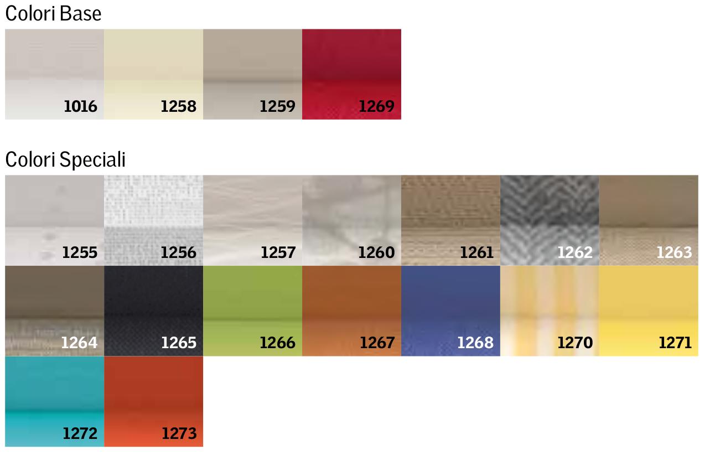 Colori disponibili per i modelli FHL, FML