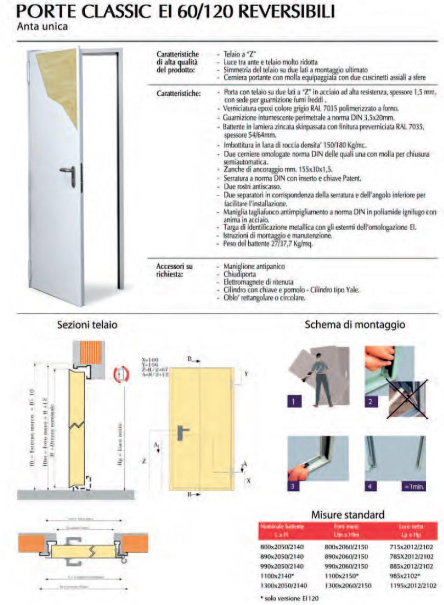 Porte metalliche multiuso e tagliafuoco for Porte ads 60