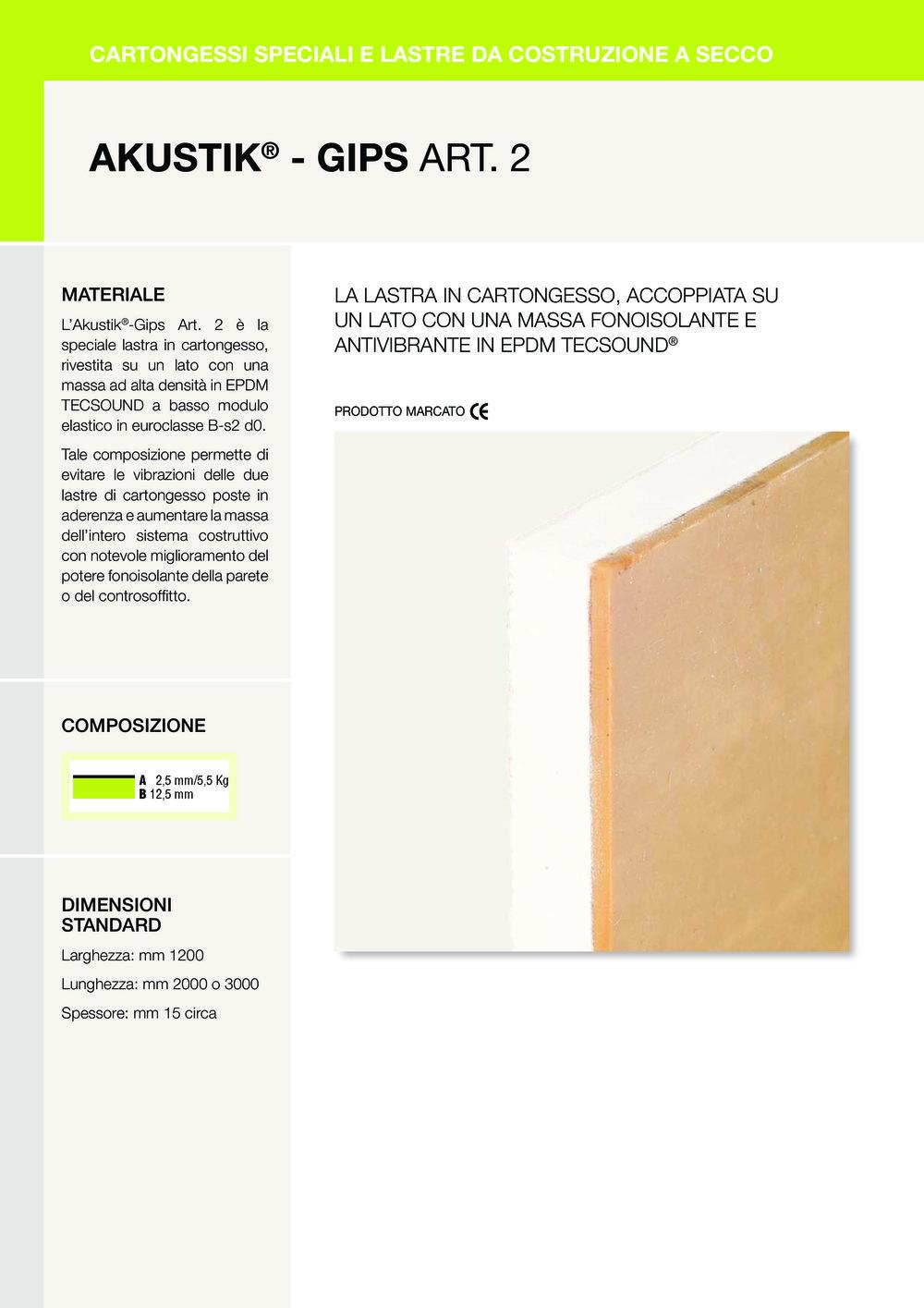 AKUSTIK ® - GIPS ART. 2