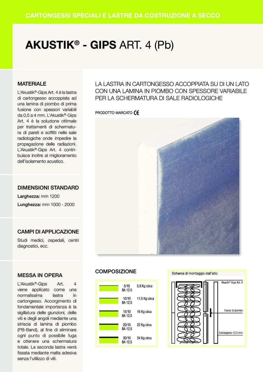 AKUSTIK ® - GIPS ART. 4