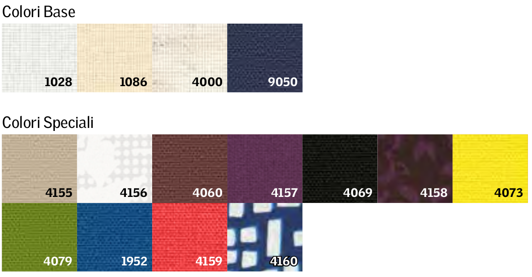 Colori tenda RML/RSL