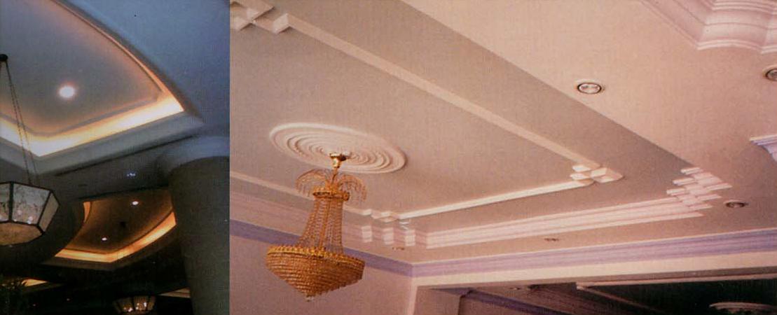 Cornice in gesso cornice modanata con foglie c174 - Decori in gesso per interni ...