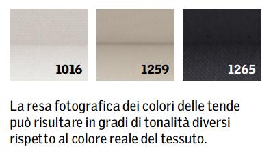 Colori tenda filtrante plissettata INTEGRA elettrica