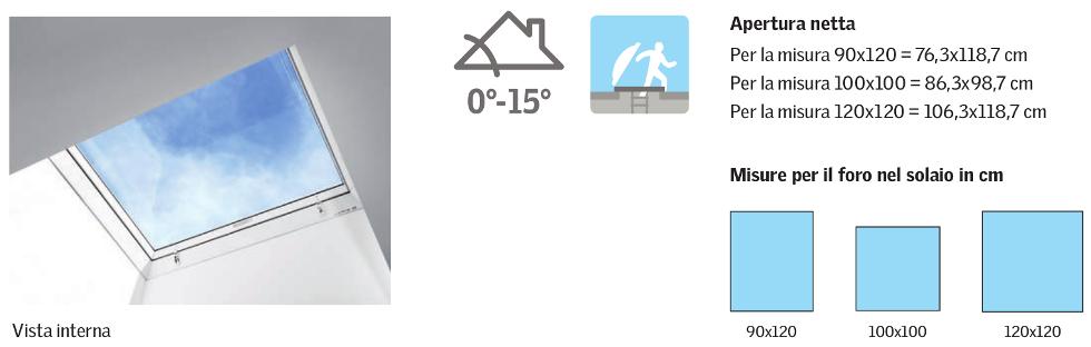 CXP - Finestra cupolino per l'accesso al tetto